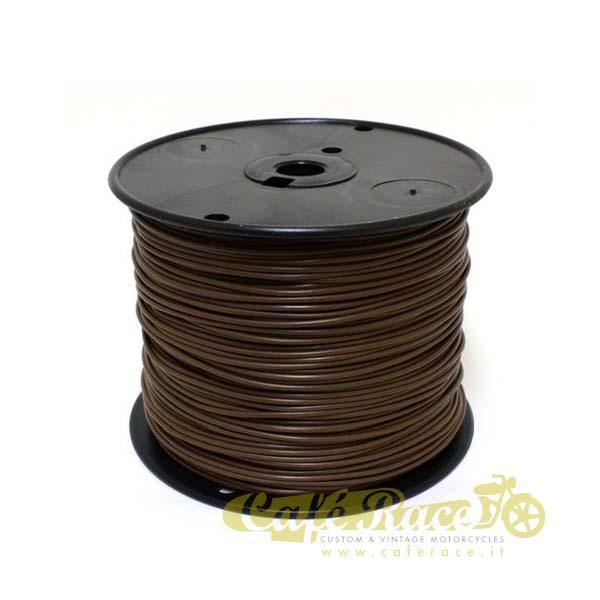 Cavo elettrico 0,8mm colore marrone