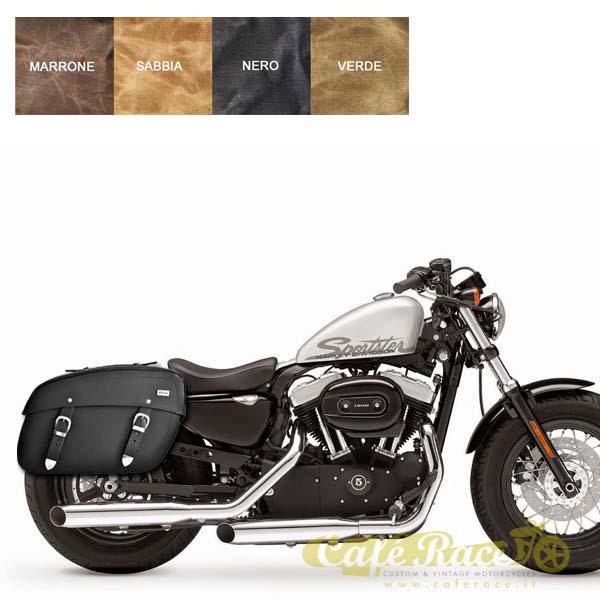 Kit borsa pelle + telaio DX Harley Davidson Sportster