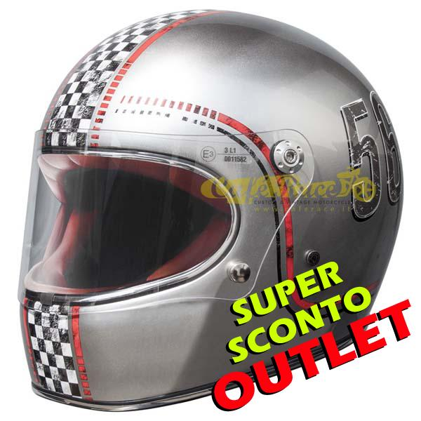Casco integrale Premier TROPHY FL Chromed in fibra tg.M