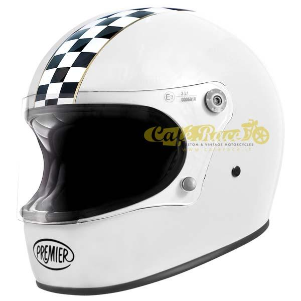 Casco integrale Premier TROPHY CK White in fibra