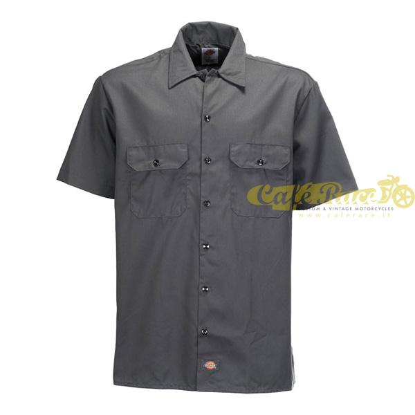 Camicia da lavoro DICKIES SHORT SLEEVE CHARCOAL GREY tg. S