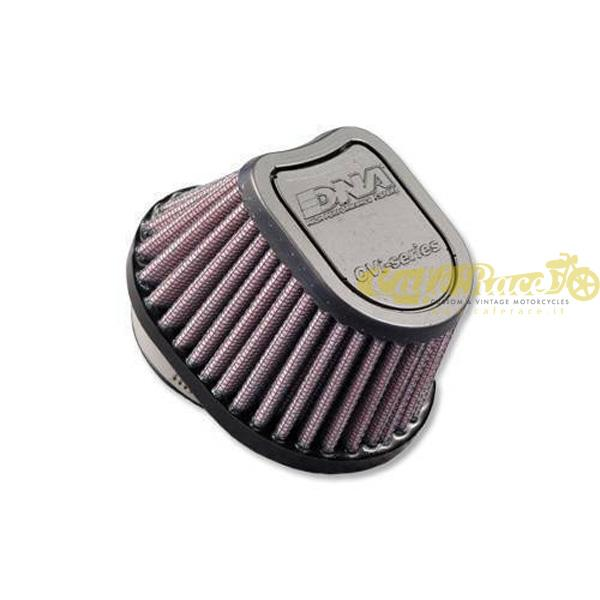 Filtro aria DNA Ø44mm conico ovale a D con top in gomma