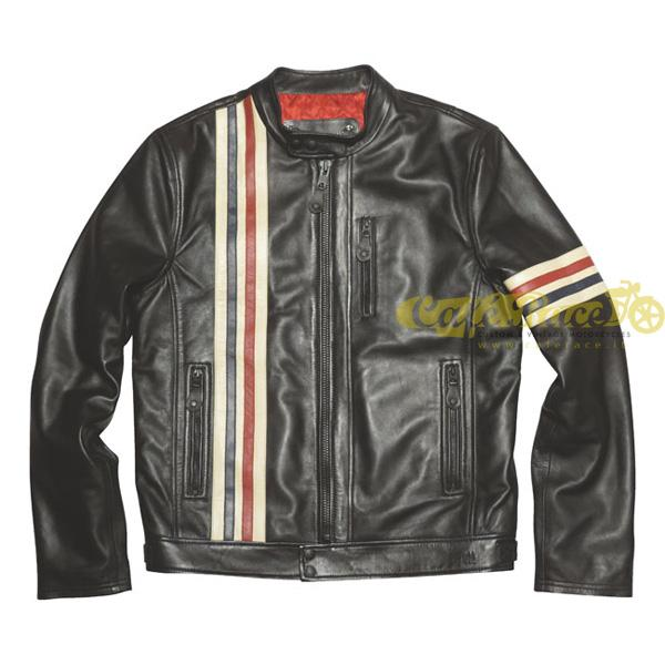 Giacca SCHOTT RACER LEATHER BLACK LAMBSKIN tg. M