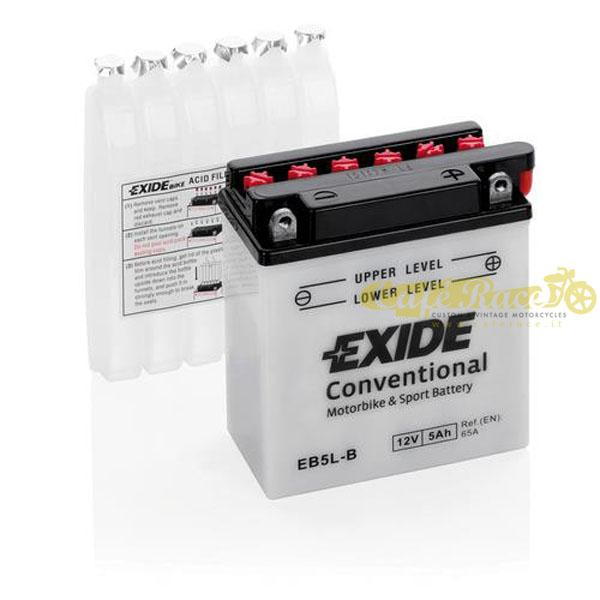 Batteria Exide Bike Conventional 12V-65A 120 x 60 x 130 mm