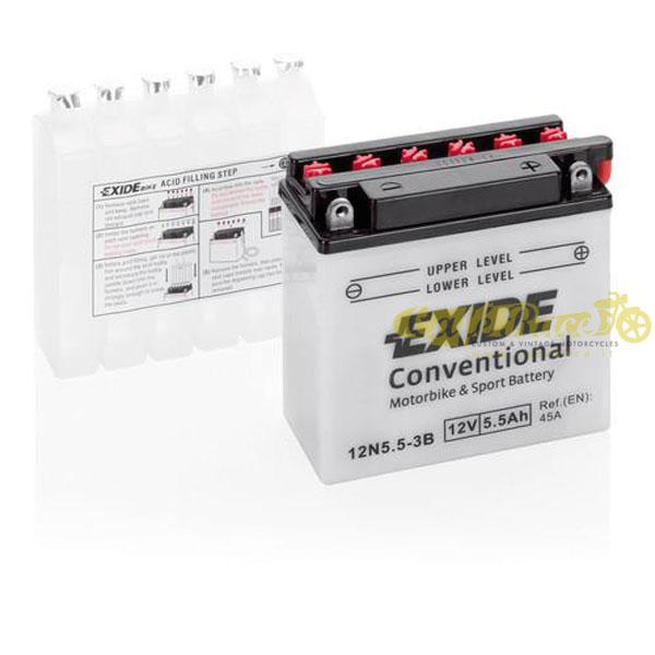 Batteria Exide Bike Conventional 12V-45A 135 x 60 x 130 mm