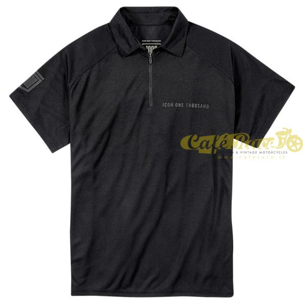 Polo nera Icon 1000 Night Court Tg.XL