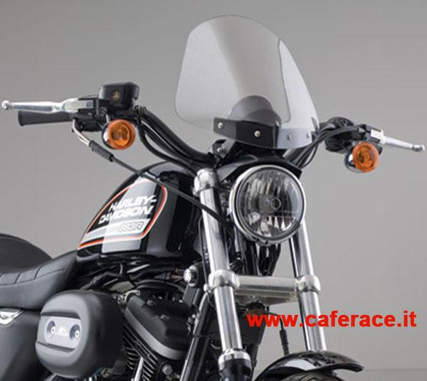 Parebrezza National Cycle Gladiator chiaro per HD XL Sportster dal 1988 al 2013 (supporti cromati)