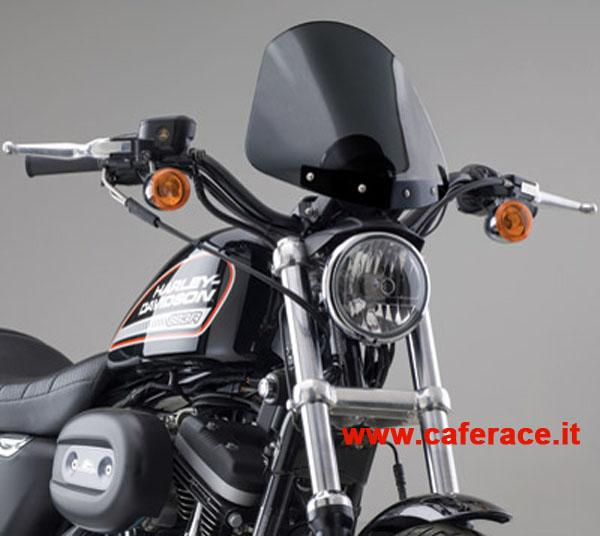 Parebrezza National Cycle Gladiator dark per HD XL Sportster dal 1988 al 2013 (supporti neri)