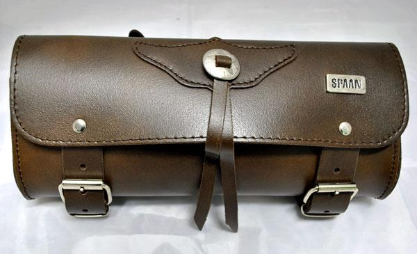 Barilotto SPAAN in vera pelle marrone da 2,5 litri - Tool Bag