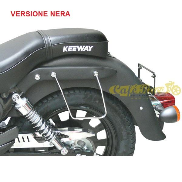 Telaietti SPAAN neri borse laterali per Keeway Super Light 125/STD/LE/LTD/Dark