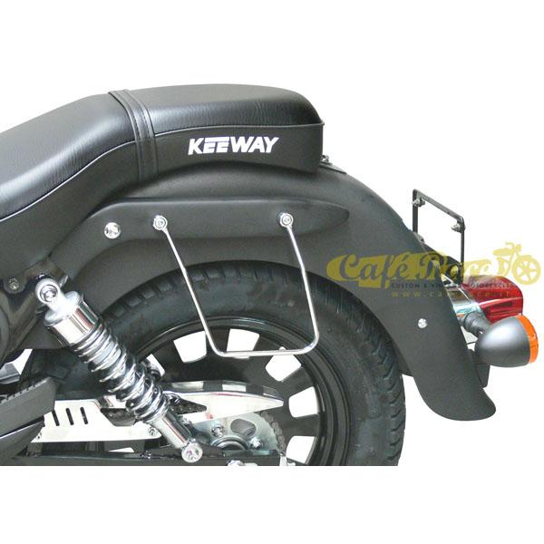 Telaietti SPAAN cromati borse laterali per Keeway Super Light 125/STD/LE/LTD/Dark
